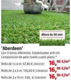 Oferta de Césped artificial por 16,95€