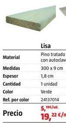 Oferta de Tarima por 19,22€