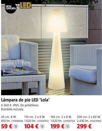 Oferta de Lámpara de pie por 59€
