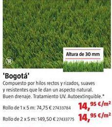 Oferta de Césped artificial por 14,95€
