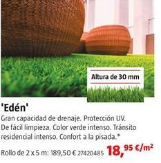 Oferta de Césped artificial por 18,95€