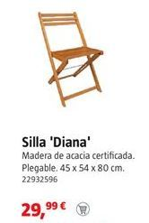 Oferta de Silla plegable por 29,99€