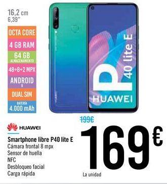 Oferta de Smartphones libre P40 lite E por 169€