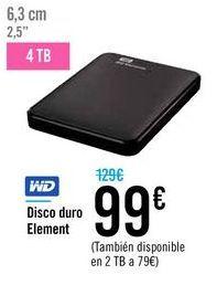 Oferta de Disco duro Element WD  por 99€