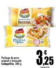 Oferta de Pechuga de pavo Campofrío por 3,25€