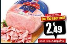 Oferta de Jamón cocido Campofrío por 2,49€