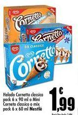 Oferta de Helados cornetto por 1,99€