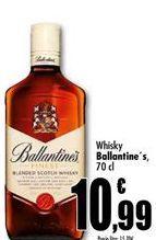 Oferta de Whisky Ballantine's por 10,99€