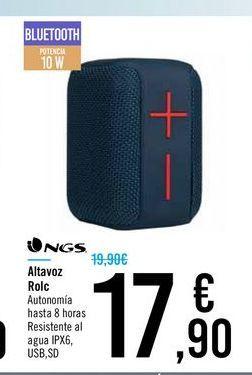 Oferta de Altavoz Rolc NGS por 17,9€