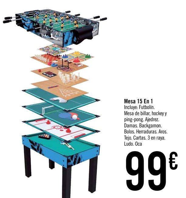 Oferta de Mesa 15 en 1 por 99€
