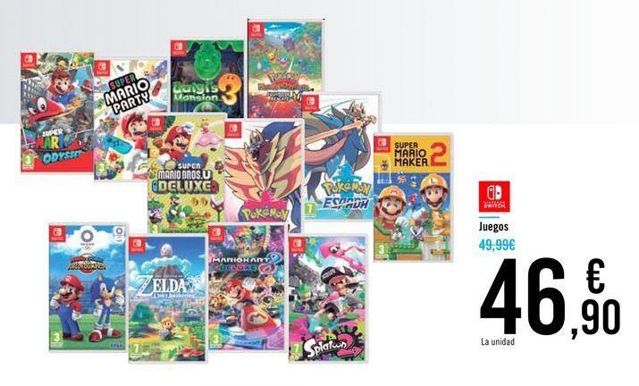 Oferta de Juegos por 46,9€