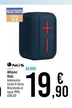 Oferta de Altavoz Rolc NGS por 19,9€