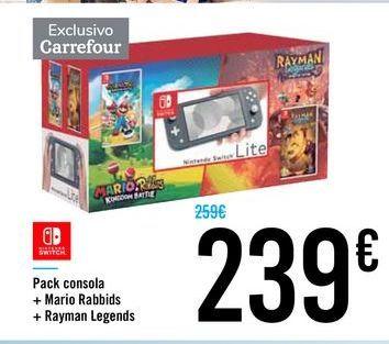 Oferta de Pack consola Nintendo Switch por 239€