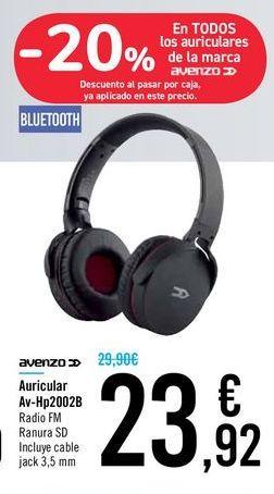Oferta de Auricular Av-Hp2002B Avenzo por 23,92€