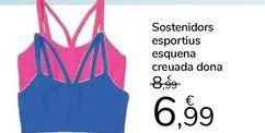 Oferta de Sujetador deportivo espalda cruzada mujer por 6,99€