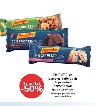 Oferta de En TODAS las Barritas individuales de proteinas POWERBAR por