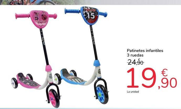 Oferta de Patinetes infantiles 3 ruedas por 19,9€