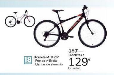 "Oferta de Bicicletas MTB 26"" por 129€"