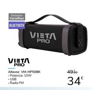 Oferta de VIETA PRO Altavoz VM-HP50BK por 34€