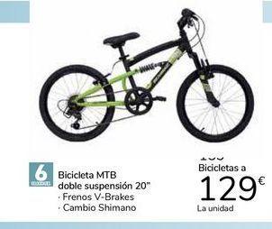 """Oferta de Bicicleta MTB doble suspensión 20"""" por 129€"""