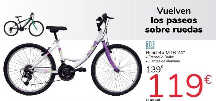 "Oferta de Bicicleta MTB 24"" por 119€"
