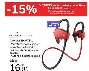Oferta de Auricular SPORTS 1 por 16,91€