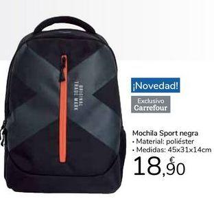 Oferta de Mochila Sport negra por 18,9€
