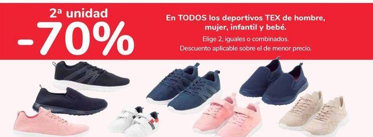 Oferta de En TODOS los deportivos TEX de hombre, mujer, infantil y bebé. por