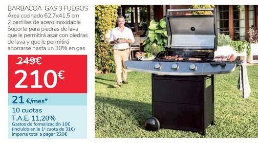 Oferta de Barbacoa Gas 3 fuegos  por 210€