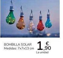 Oferta de Bombilla Solar por 1,9€