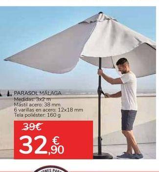 Oferta de PARASOL MÁLAGA  por 32,9€