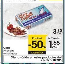 Oferta de Anchoas Ortiz por 3,3€