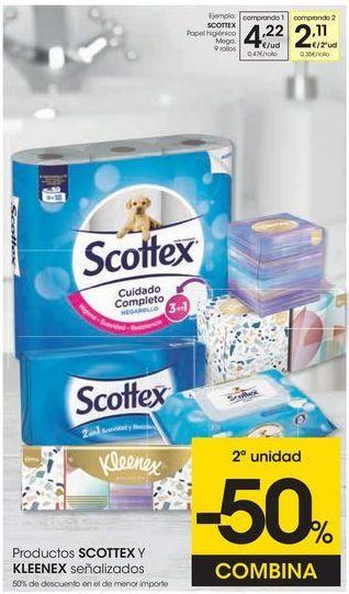 Oferta de Papel higiénico Scottex por 4,22€