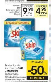 Oferta de Detergente en polvo Skip por 9,9€