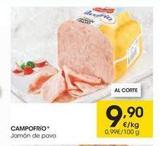 Oferta de Jamón de pavo Campofrío por 9,9€