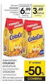 Oferta de Cacao en polvo Cola Cao por 6,99€