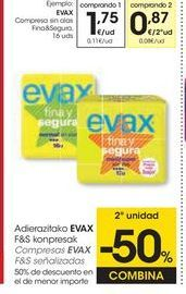 Oferta de Compresas Evax por 1,75€