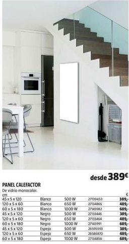 Oferta de Panel calefactor por 389€