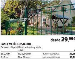 Oferta de Panel metálico por 29,99€