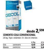 Oferta de Cemento por 2,59€