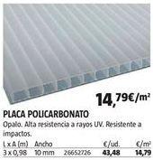 Oferta de Placas de policarbonato por 14,79€