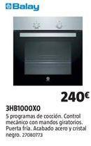 Oferta de Horno multifunción Balay por 240€