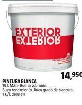 Oferta de Pintura blanca interior por 14,95€