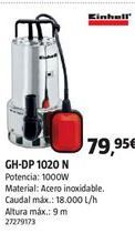 Oferta de Bomba de agua Einhell por 79,95€
