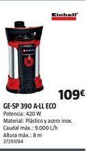 Oferta de Bomba de agua Einhell por 109€