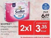 Oferta de Papel higiénico Scottex por 3,35€