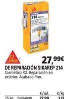 Oferta de Mortero de reparación sika por 27,99€