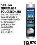 Oferta de Silicona Quilosa por 19,97€