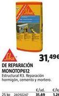 Oferta de Mortero de reparación sika por 31,49€