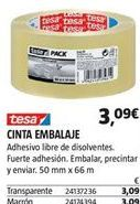Oferta de Cinta adhesiva tesa por 3,09€